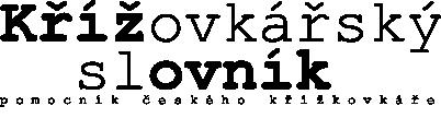 Logo křížovkářský slovník Křížovník.cz
